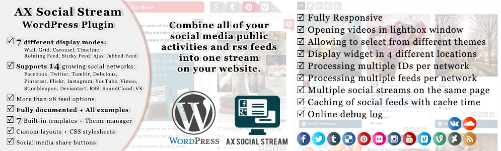 AX Social Stream WordPress Plugin Documentation