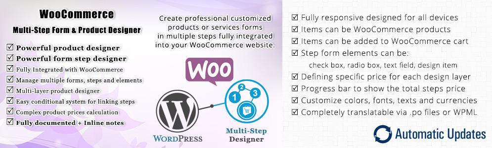WooCommerce Multistep Form & Product Designer Documentation
