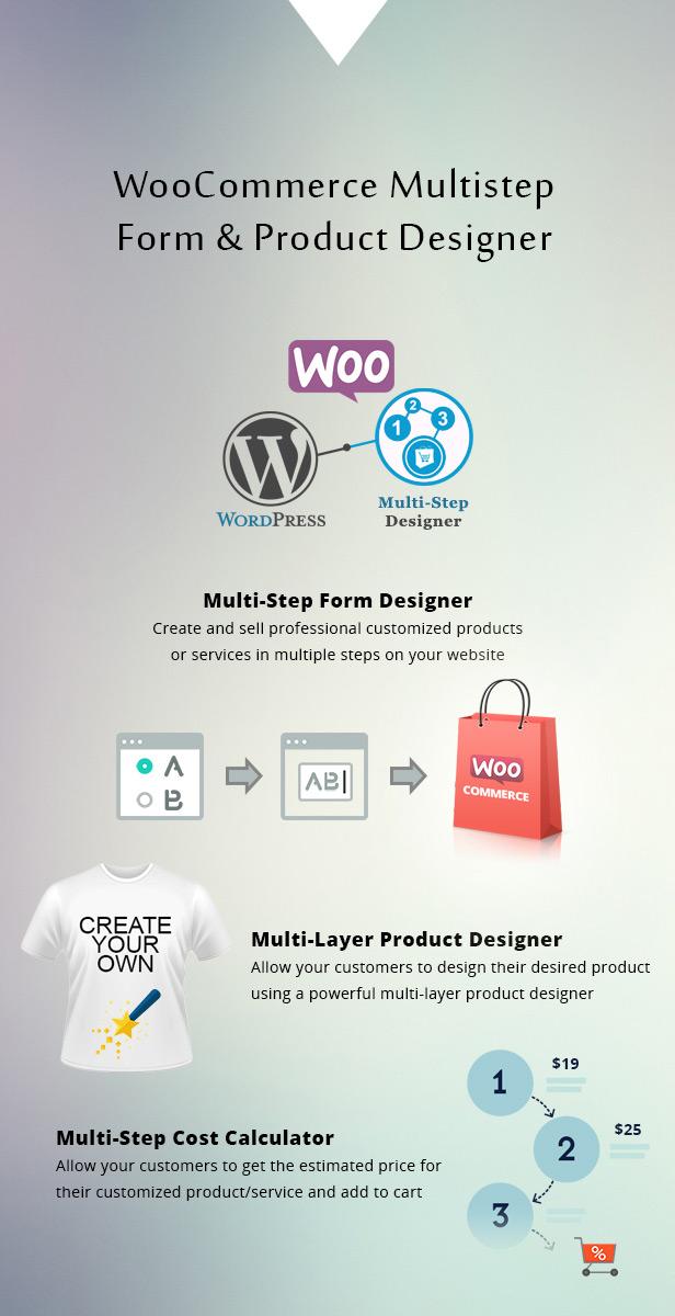 Diseñador de formularios y productos de varios pasos de WooCommerce - 1