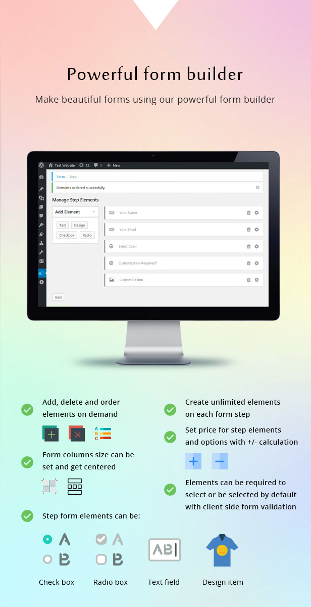 Diseñador de formularios y productos de varios pasos de WooCommerce - 4